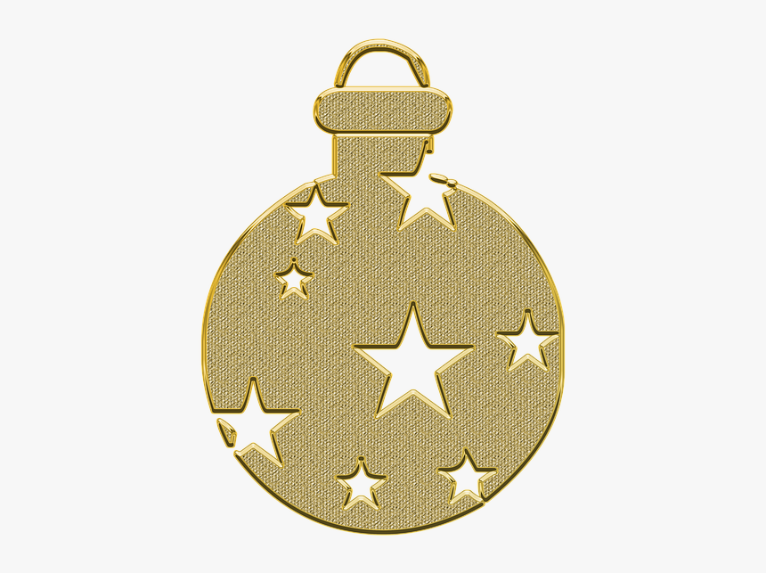 Ornament, Decor, Vector, Gold, Golden, New Year, Toy, HD Png Download, Free Download