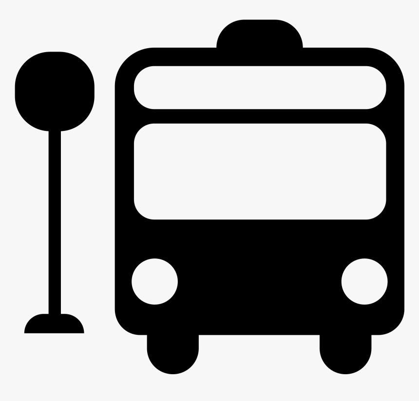 Stop Sign Clip Art White - Bus Symbol, HD Png Download, Free Download