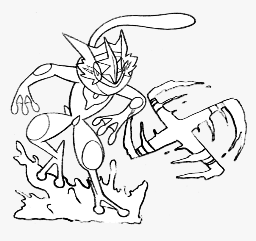 Coloring Pages For Kids Pokemon Talonflame Printable - Pokemon Ash Greninja Coloring Pages, HD Png Download, Free Download