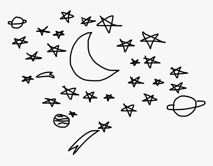 #stars #star #galaxyedit #drawing #aesthetic #tumblr - Line Art, HD Png Download, Free Download
