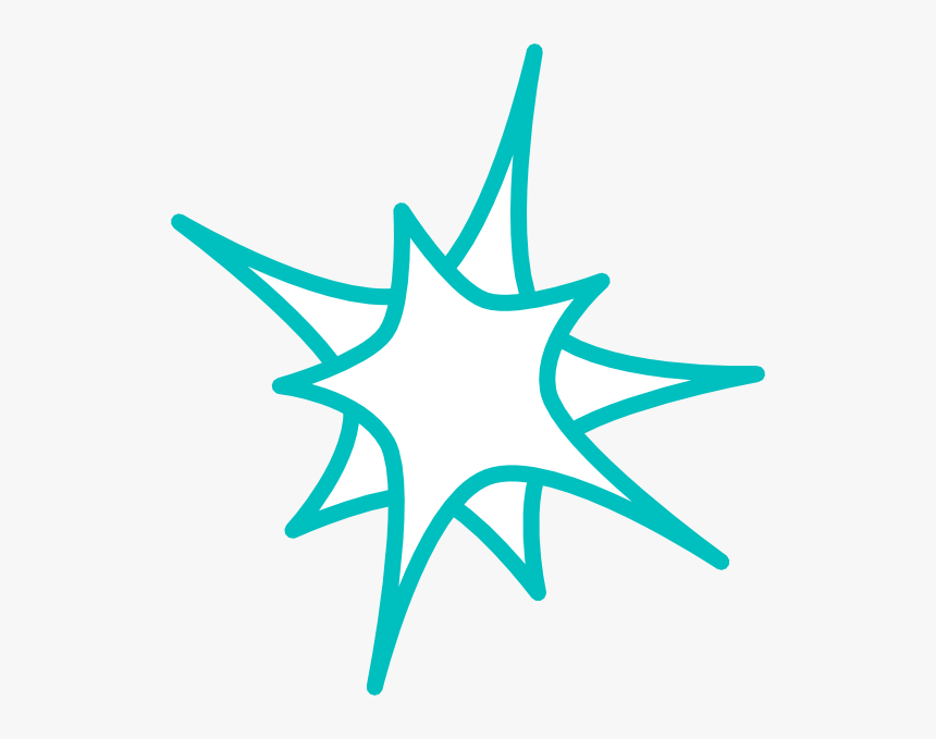 Teal Star Clip Art, HD Png Download, Free Download