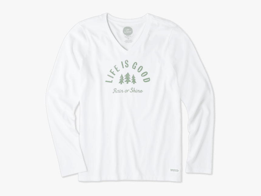 "Women""s Rain Or Shine Long Sleeve Crusher Vee - Long-sleeved T-shirt, HD Png Download, Free Download"