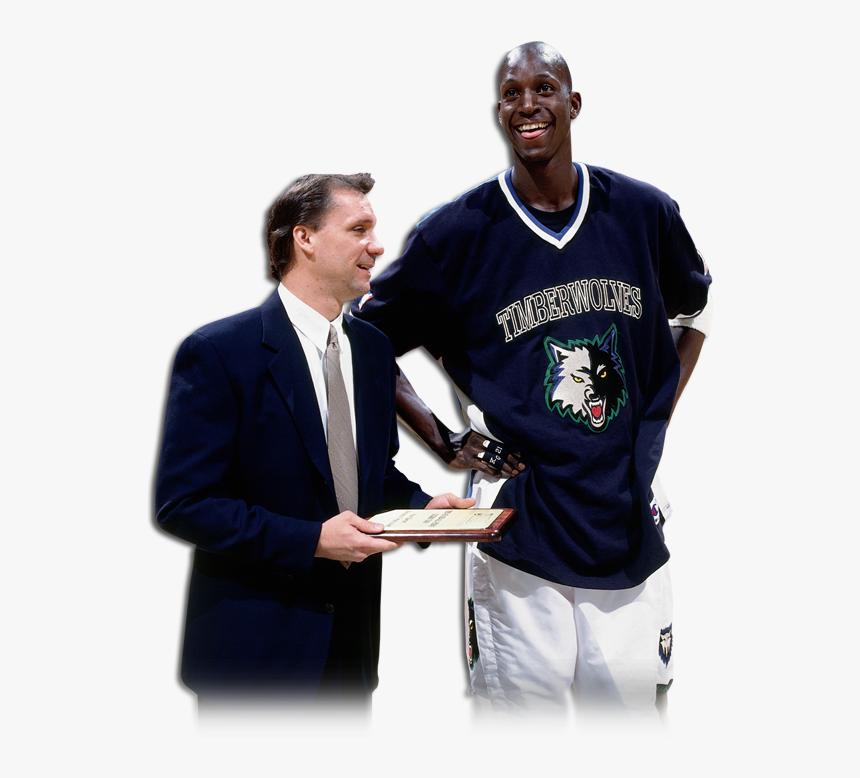 Kevin Garnett With Timberwolves Head Coach Flip Saunders Kevin