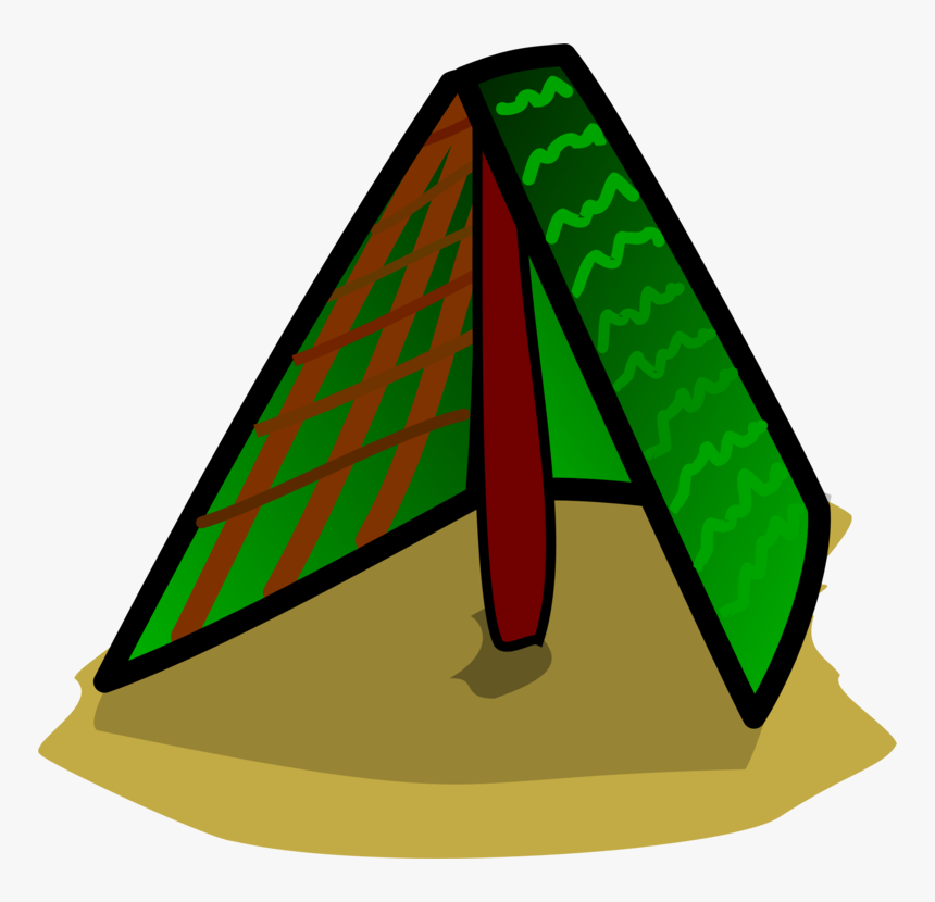 Leaf,area,symbol - Triangle Tent Clip Art, HD Png Download, Free Download
