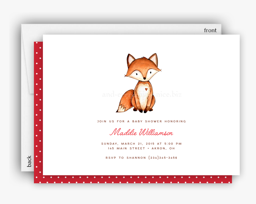 """Transparent You""""re Invited Birthday Clipart - Red Fox, HD Png Download, Free Download"""