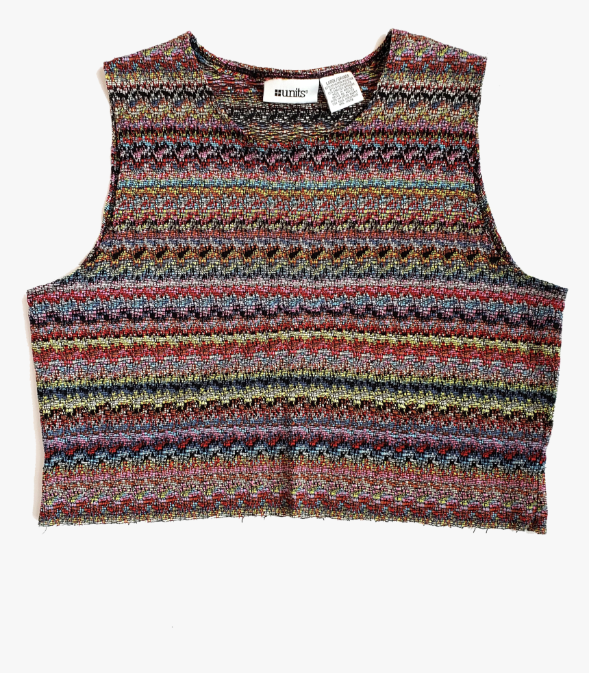 """80s/90s Units Knit Cropped Top""""  Class=""""lazyload Lazyload - Active Tank, HD Png Download, Free Download"""