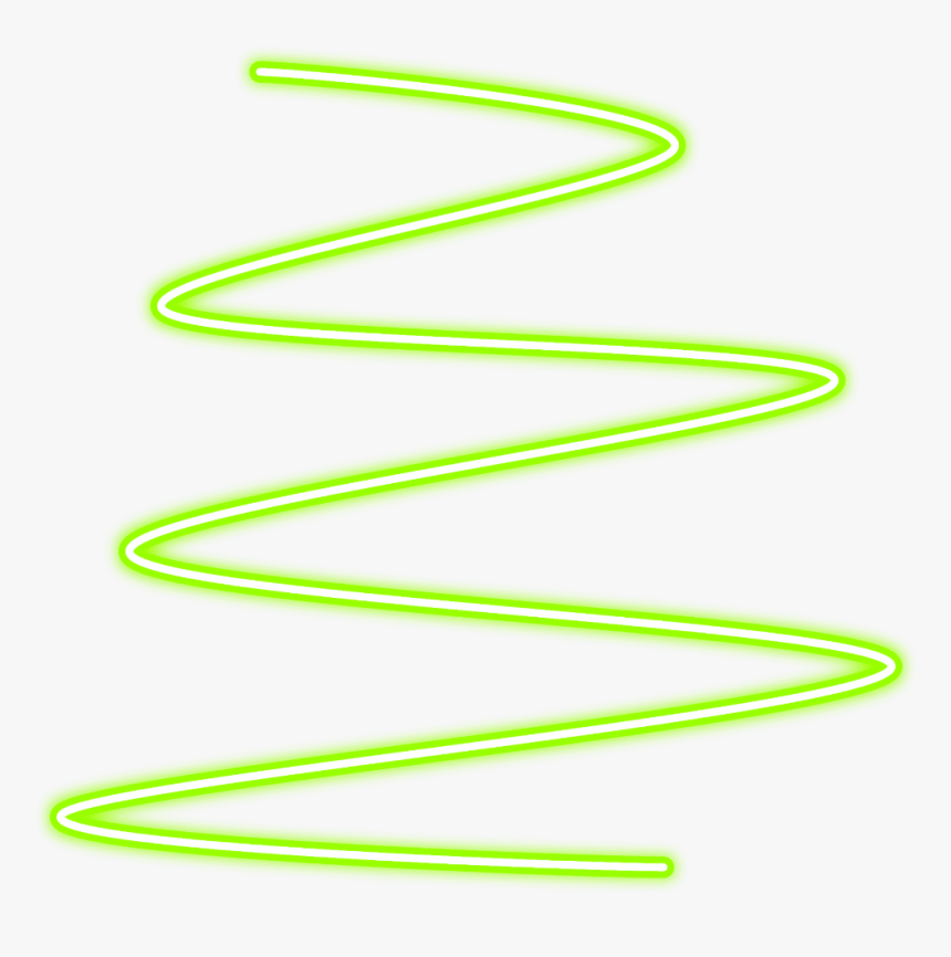 #neon #glow #spiral #green #line#lines #freetoedit - Neon Glowing Effect Picsart, HD Png Download, Free Download