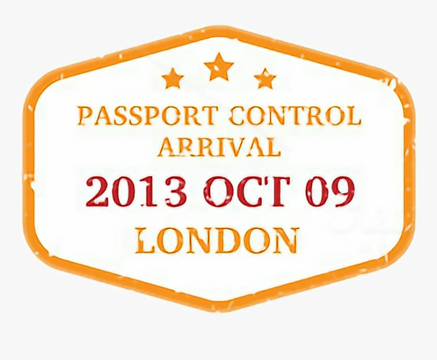 #visa #visastamp #stamp #passport #london #travel #text#freetoedit - Orange, HD Png Download, Free Download