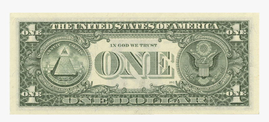 Back Of Us 1 Dollar Bill, HD Png Download, Free Download