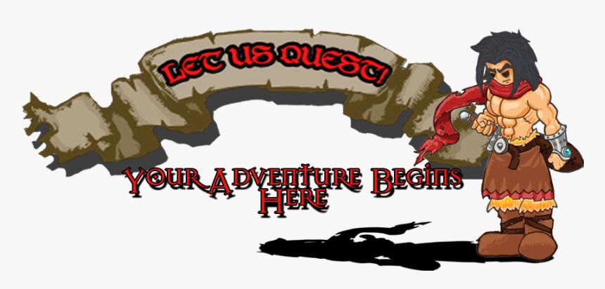 Let Us Quest - Cartoon, HD Png Download, Free Download
