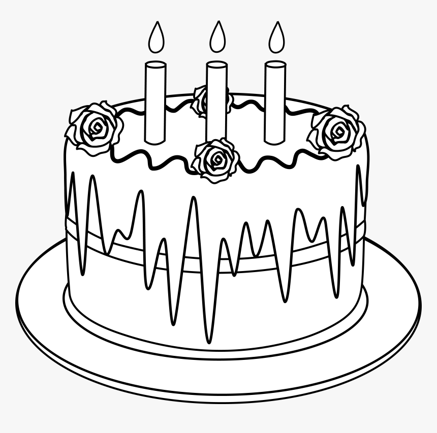 Black And White Clipart Cake