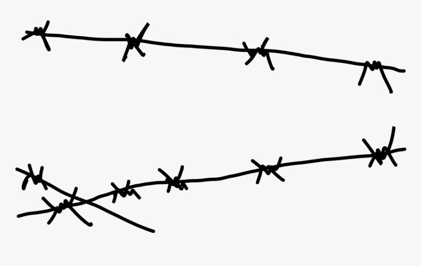 Transparent Barbwire Border Clipart - Easy Barb Wire Drawings, HD Png Download, Free Download