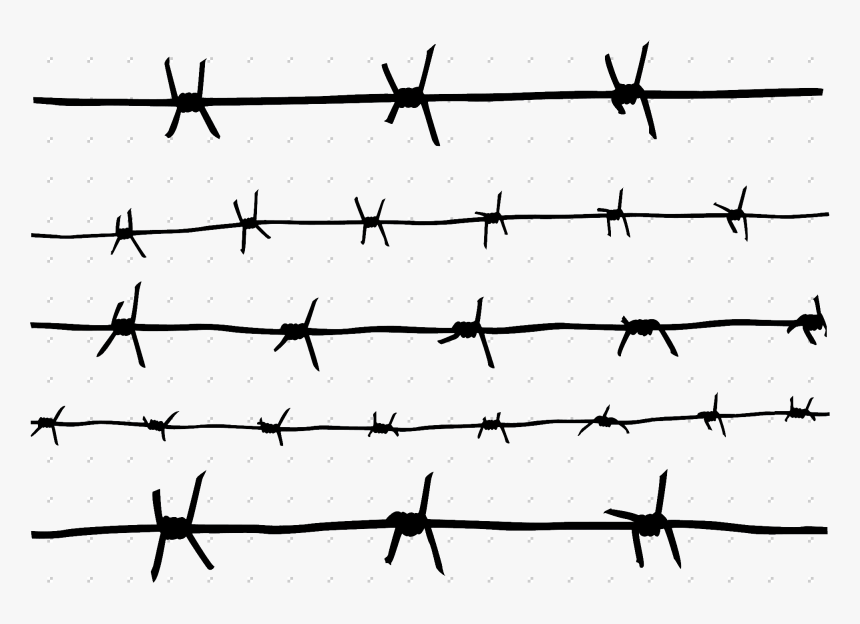 Barbed Wire Fence Png Clipart , Png Download - Easy To Draw Barbed Wire, Transparent Png, Free Download