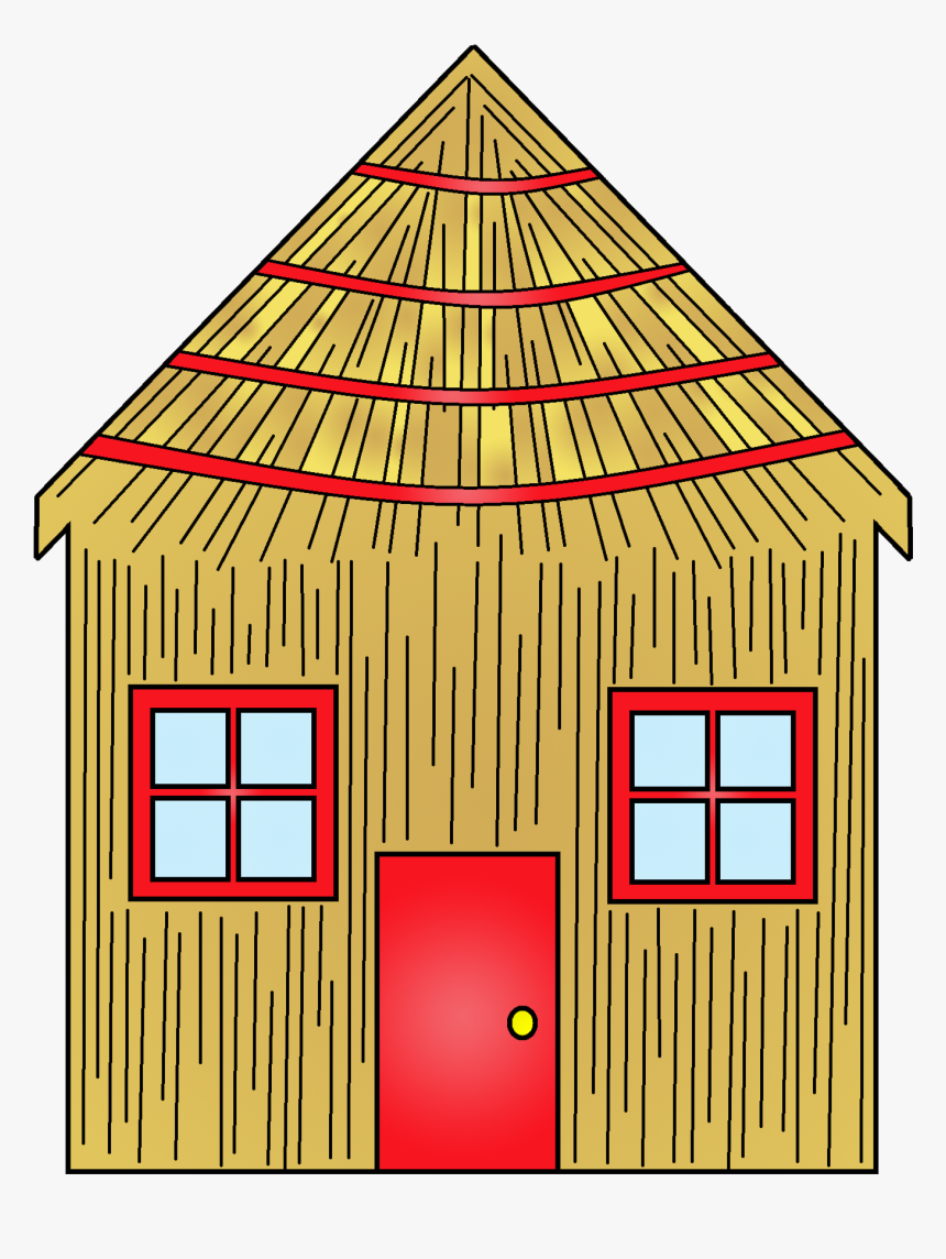 Showing Post & Media For Cartoon Stick House Clip Art - Three Little Pigs Straw House, HD Png Download, Free Download