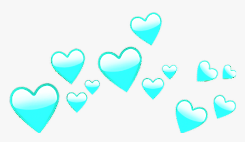 Blue Heart Crown Heartcrown Bynisha Sticker Decoration - Transparent Yellow Heart Crown Png, Png Download, Free Download