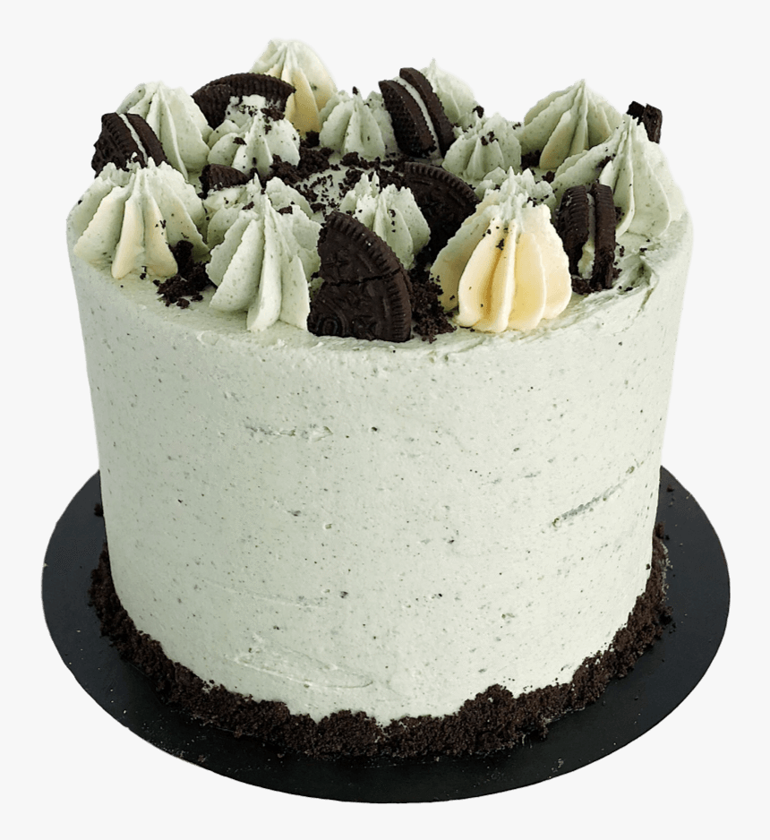 """Vegan Cookies And Cream Cake 4""""  Class= - Cookie And Creamcake With Candle, HD Png Download, Free Download"""