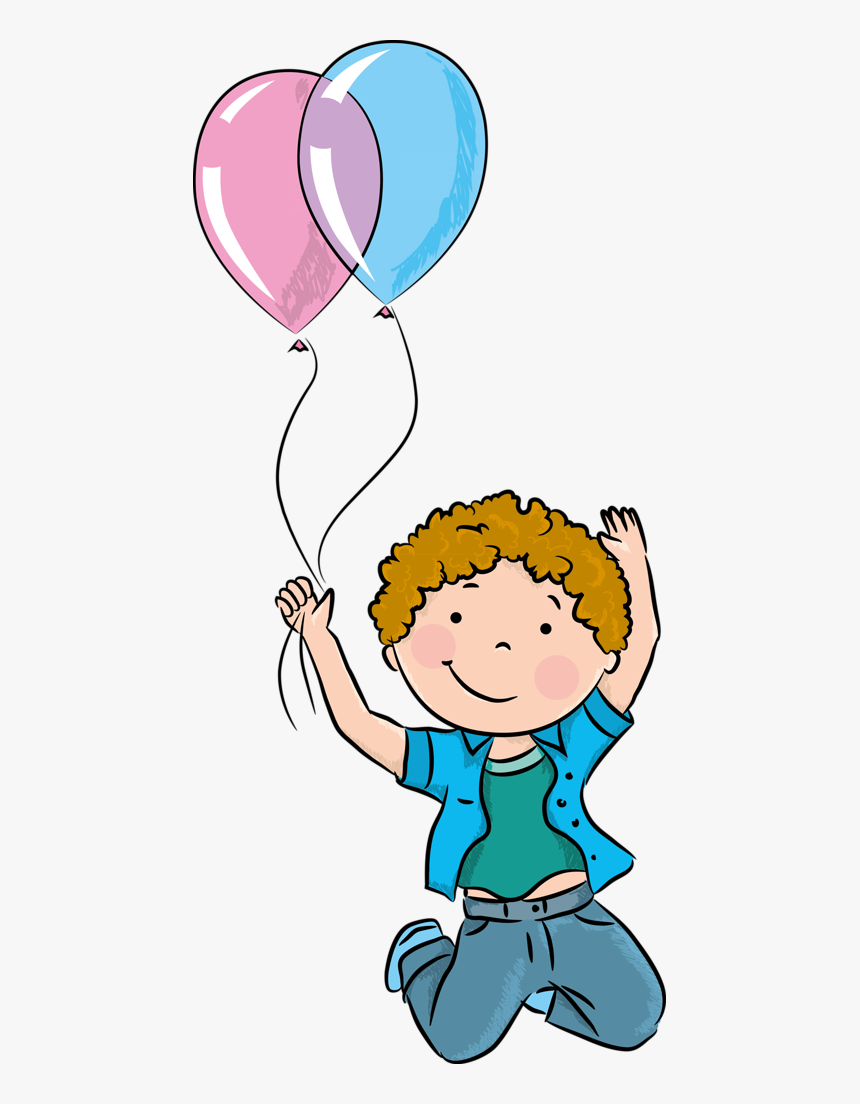 Imagenes De Niños Jugando Con Globos , Png Download - Children With Balloon Png, Transparent Png, Free Download