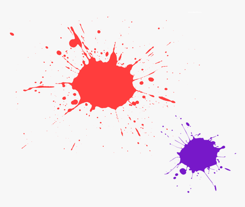 Artist Child Painting Canvas - Red Paint Splatter Vector, HD Png Download, Free Download