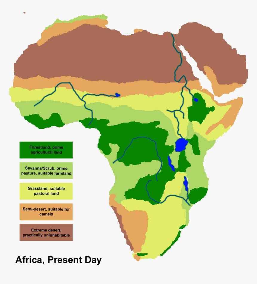 Africa Savanna Map Map Of Africa Png   African Savanna Map, Transparent Png   kindpng