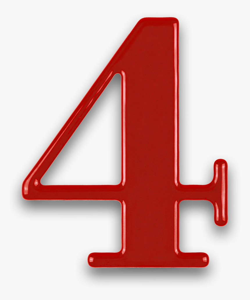 Number 4 Png Transparent Images, Pictures, Photos - Red Number 4 Png, Png Download, Free Download
