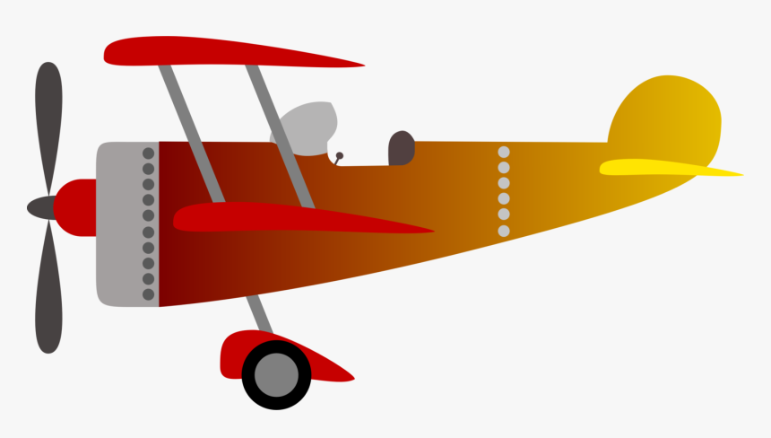 Propeller Driven Aircraft,angle,biplane - Clip Art Biplane, HD Png Download, Free Download