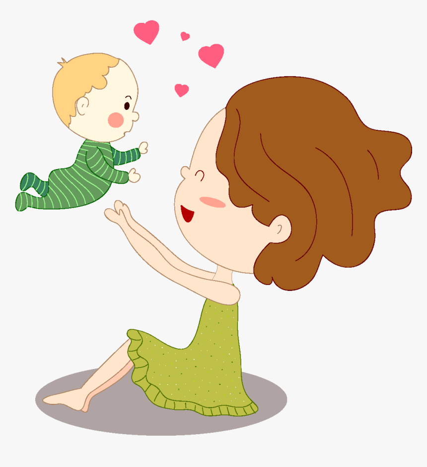 Transparent Mother And Child Png Mother And Baby Clipart Transparent Background Png Download Kindpng