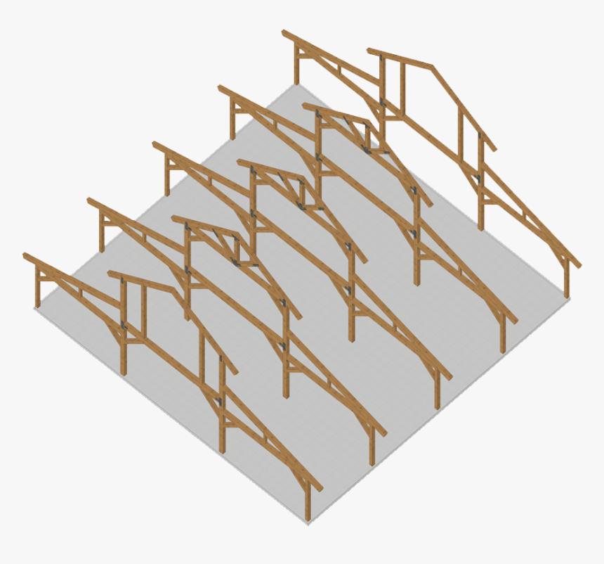 Transparent Western Frame Png - Pole Building Framing, Png Download, Free Download