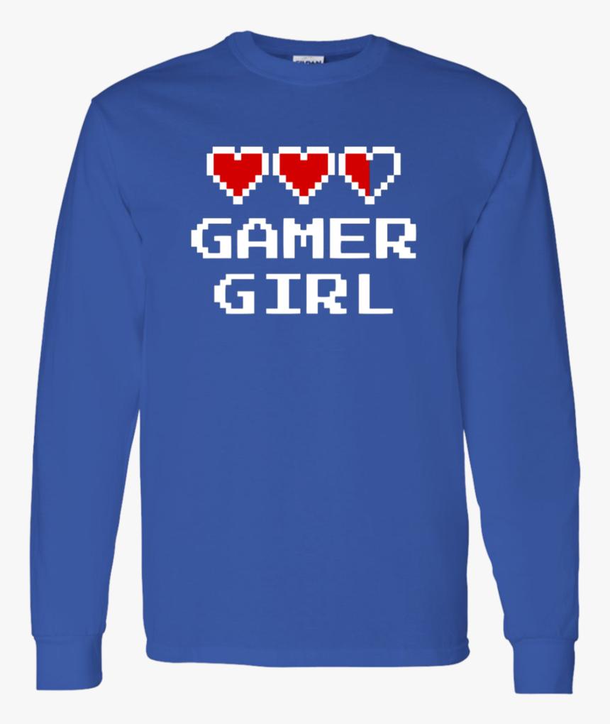 Transparent Gamer Girl Png - Long-sleeved T-shirt, Png Download, Free Download