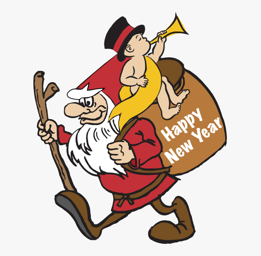 Clip Art Of A Gnome And Baby New Year Dixie Allan - Happy Holidays Clip Art, HD Png Download, Free Download