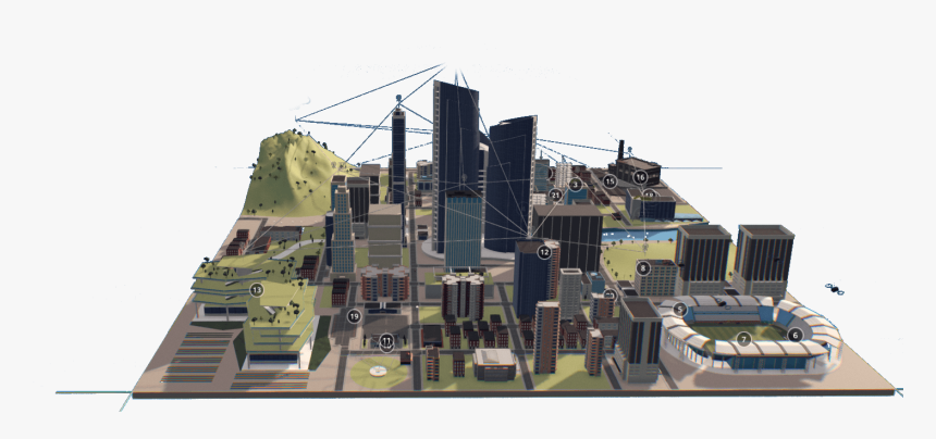 Intel 5g Technology Powering The Cities Of The Future - Motherboard City, HD Png Download, Free Download