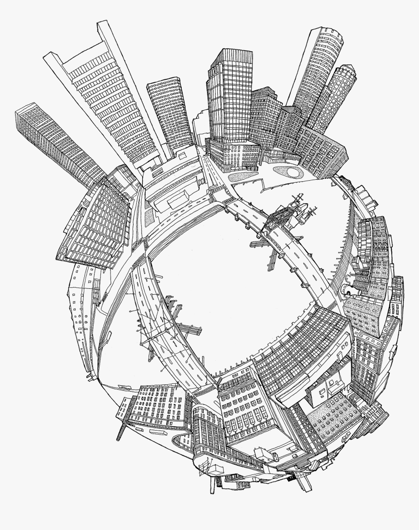 """Future City Fortpoint Cities As P Lanets Mmartinez""""  - City On Another Planet Drawing, HD Png Download, Free Download"""