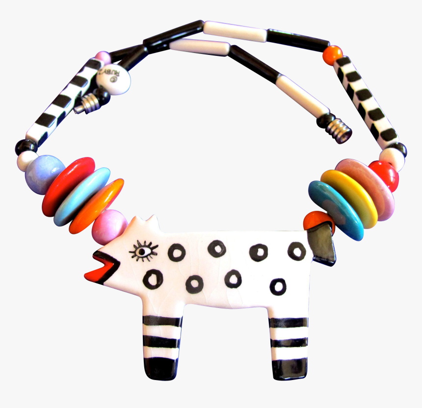 Ruby Z Ceramic Spotted Dog Necklace - Bead, HD Png Download, Free Download