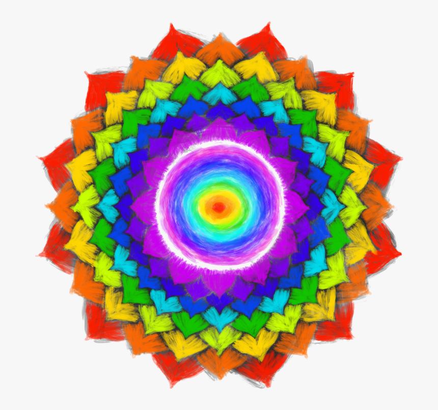 Crown Chakra Rainbow Colors, HD Png Download, Free Download