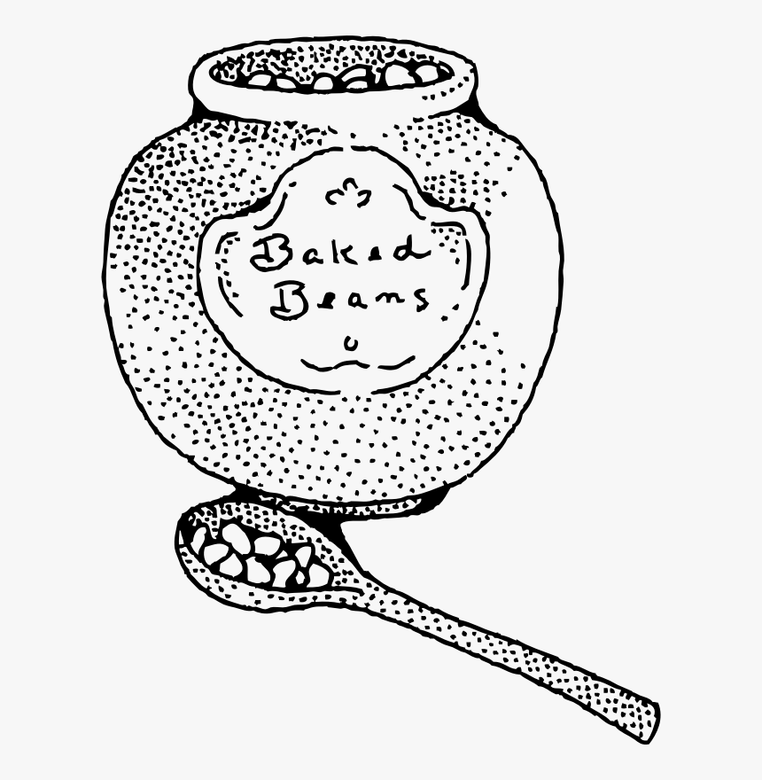 Baked Beans - Baked Beans Clipart Black And White, HD Png Download, Free Download