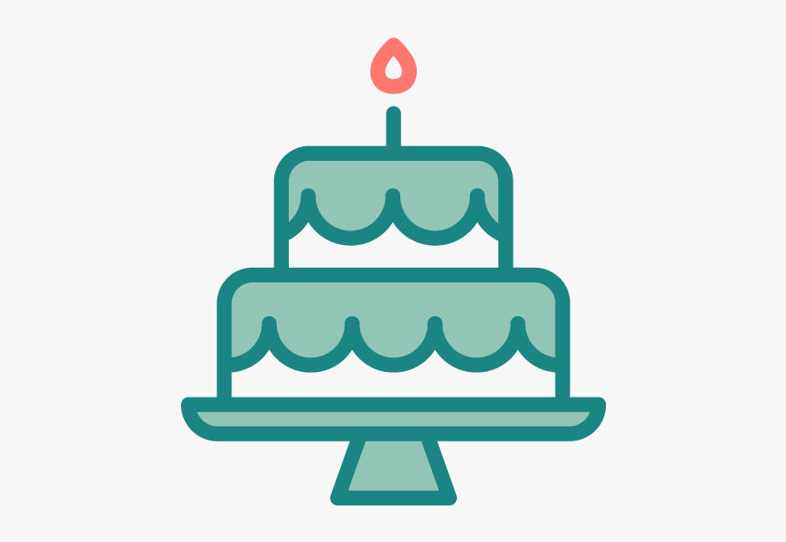 For Goodness Cakes - Cake Teal Birthday Clip Art, HD Png Download, Free Download