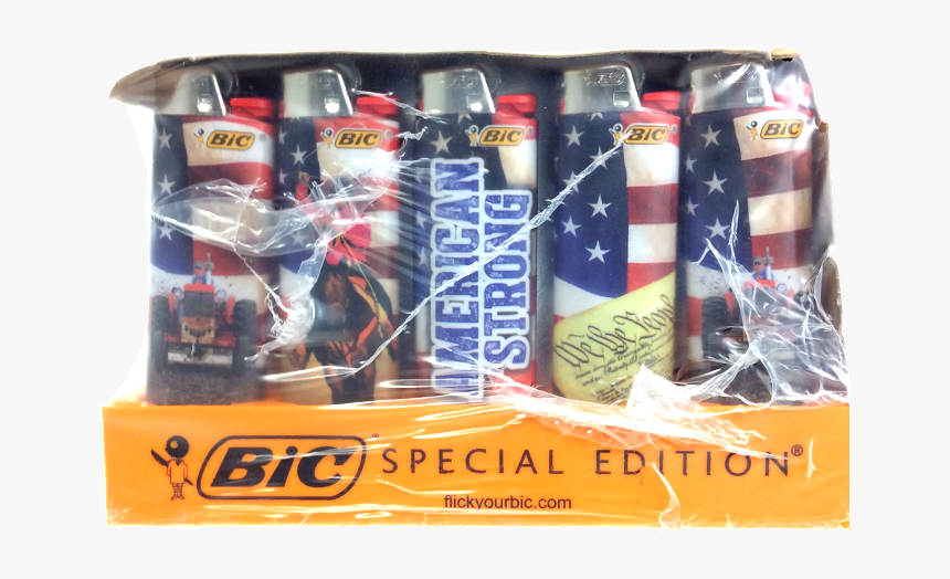 Bic Lighter Us Flag - Bic, HD Png Download, Free Download
