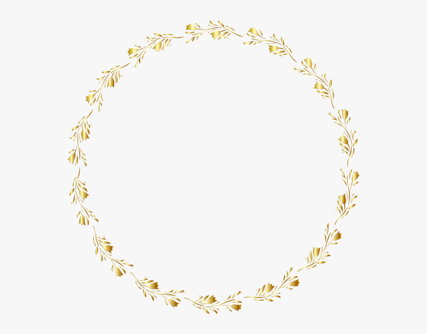Round Border Design Gold, HD Png Download, Free Download