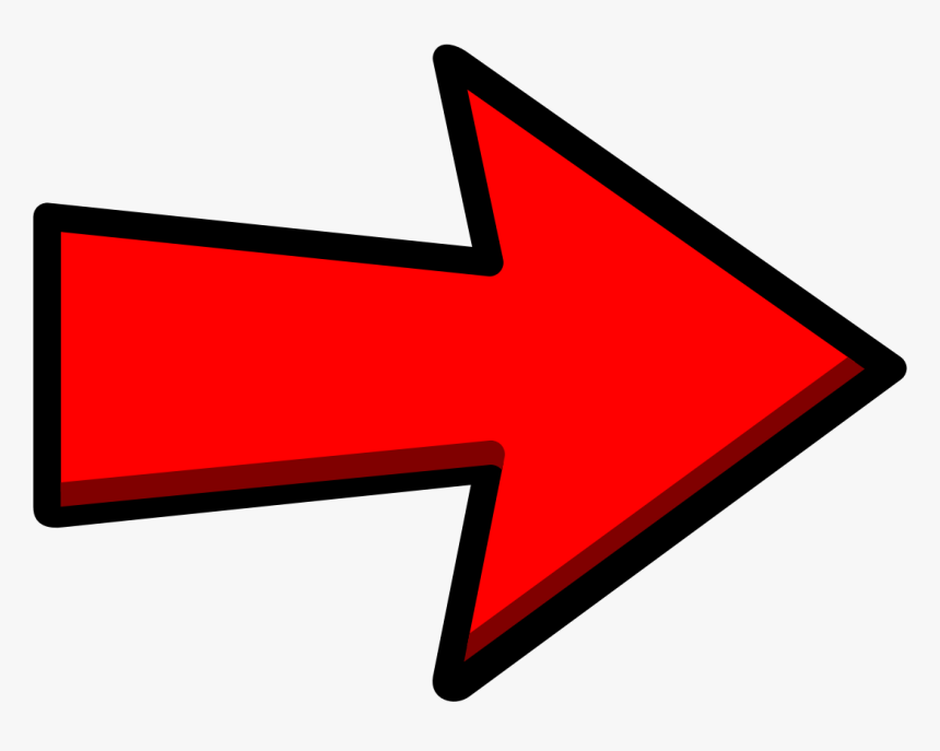 Clickbait Arrow Png - Arrow Pointing Right Transparent, Png Download, Free Download