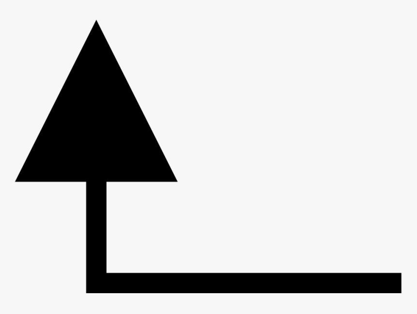 Arrow, Left, Pointing, Up, Sign, Symbol - Arrow Pointing Left Then Up, HD Png Download, Free Download
