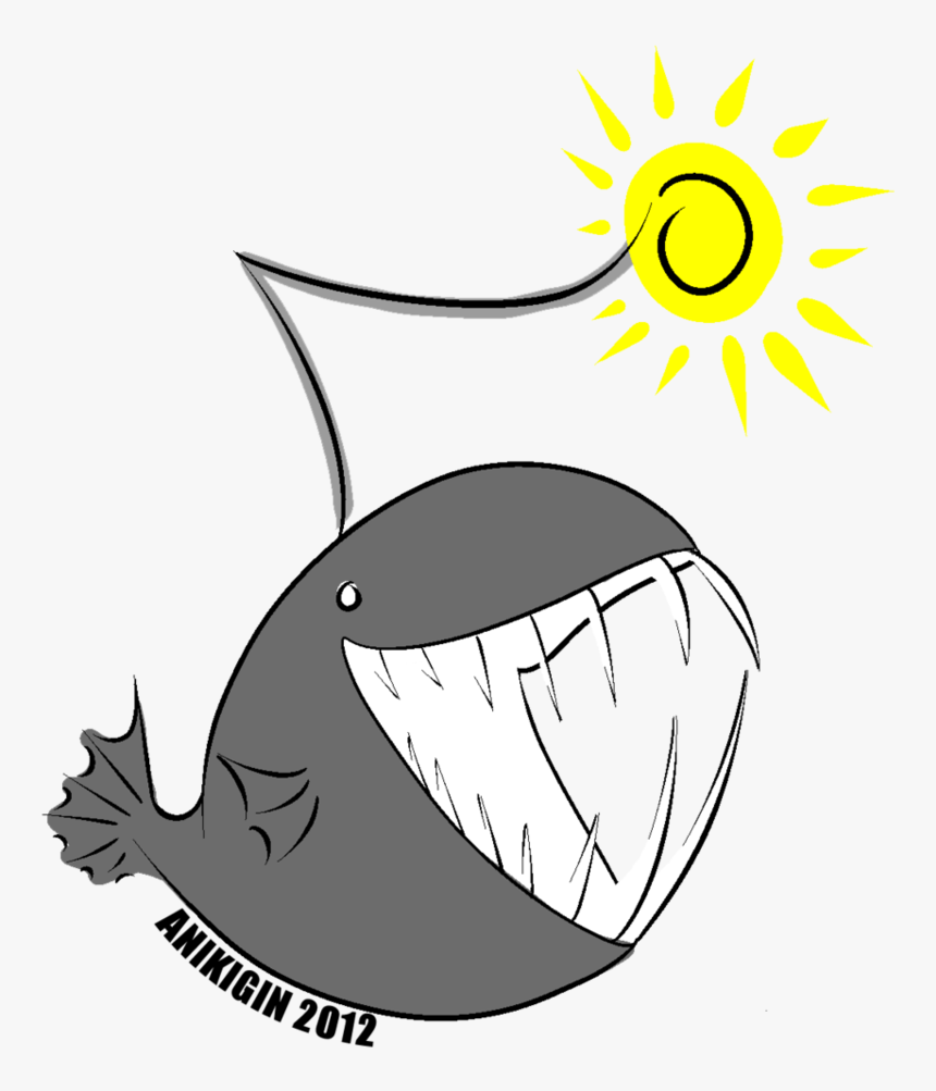 28 Collection Of Angler Fish Drawing Cute - Cute Angler Fish Drawing, HD Png Download, Free Download