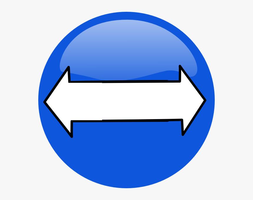 Blue Bidirectional Arrows Clean Svg Clip Arts Blue Bidirectional Arrow Icon Hd Png Download Kindpng