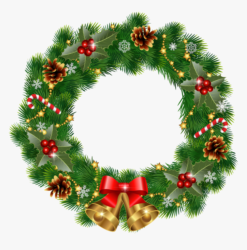 Vintage Christmas Wreath Vector, HD Png Download, Free Download