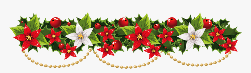 Christmas Garland Clipart Png - Clip Art Christmas Garland, Transparent Png, Free Download