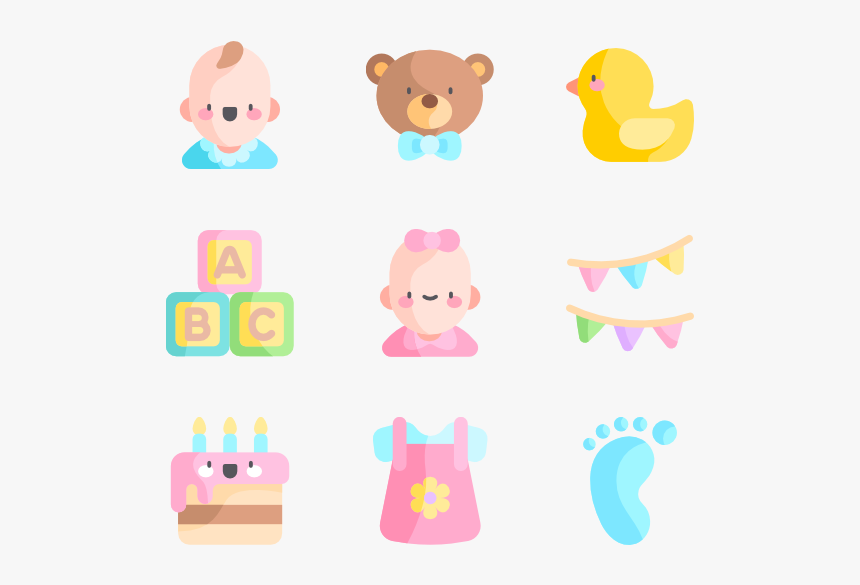 Baby Shower - Baby Shower Icons Png, Transparent Png, Free Download