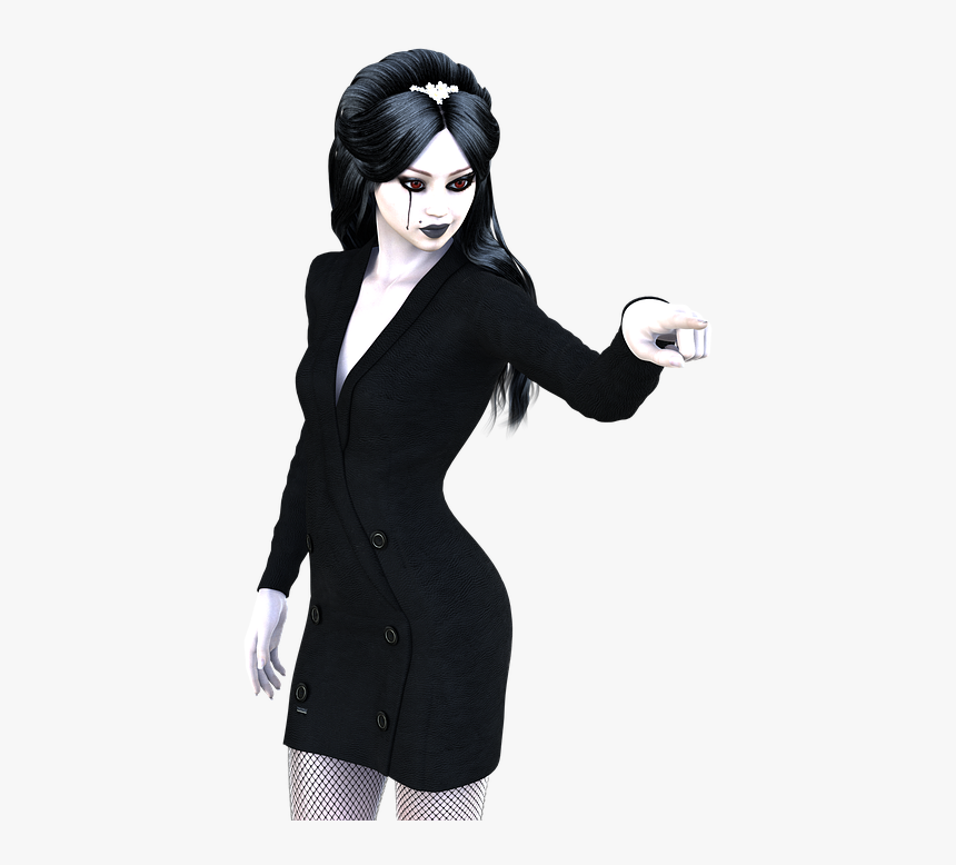 Dark, Gothic, Girl, Woman, Sensual, Sexy, Lady - Angry Woman Clipart Black, HD Png Download, Free Download