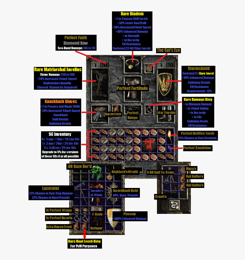 Diablo 2 Bowazon Build - Diablo 2, HD Png Download, Free Download
