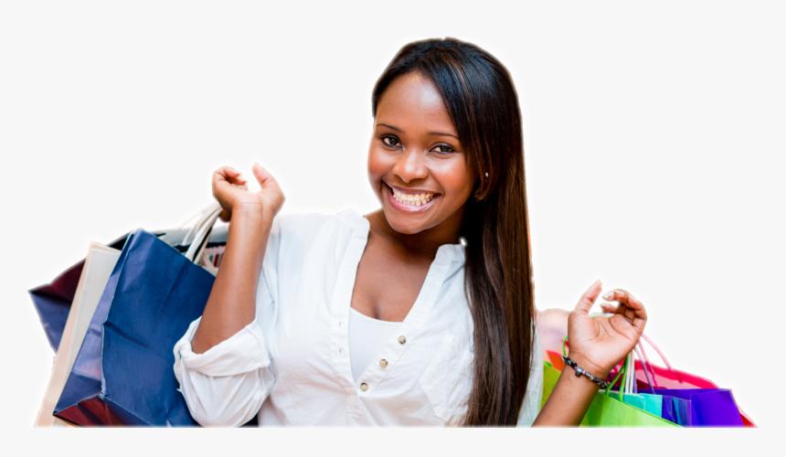 Black Girl Shopping Png, Transparent Png - kindpng