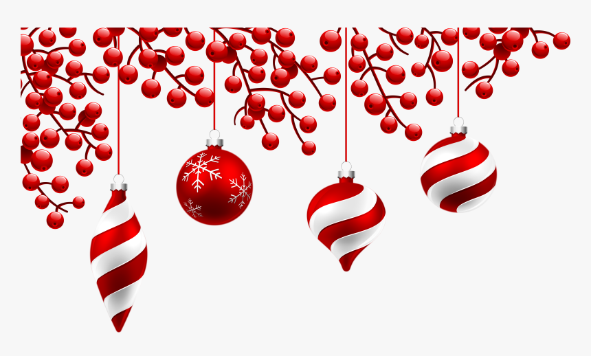 Red Christmas Decoration Png Clipart Image - Transparent Christmas Decoration Png, Png Download, Free Download