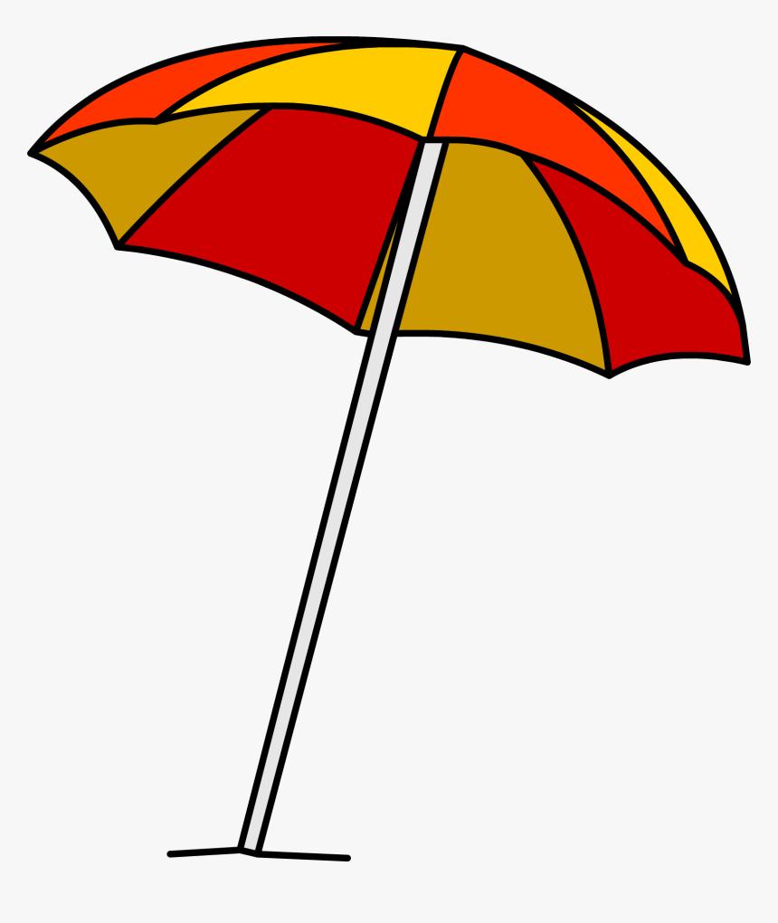 Umbrella Beach Burberry Clip Art - Beach Umbrella Clipart, HD Png Download, Free Download