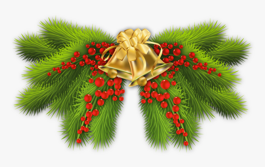 Transparent Pine Boughs Clipart - Christmas Decoration Items Png, Png Download, Free Download